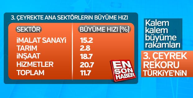 Türkiye'nin büyüme rakamlarının detayları
