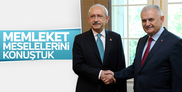 Meclis'te Başbakan Yıldırım - Kılıçdaroğlu görüşmesi