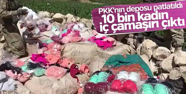 PKK'nın kaçak iç çamaşırları ele geçirildi