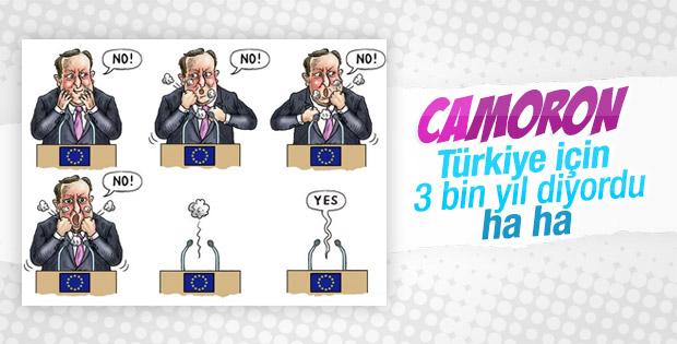 Türkiye için tarih veren Cameron'un kendisi gitti