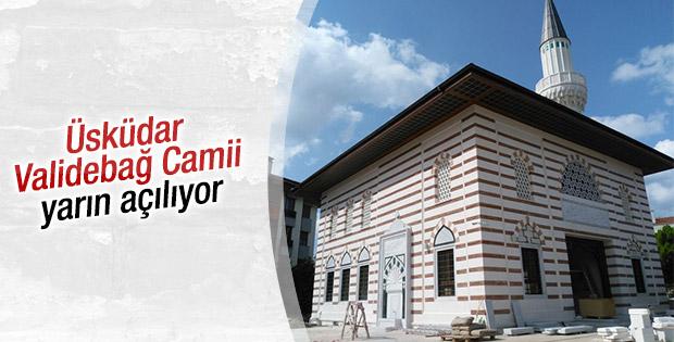 Üsküdar Validebağ Camii yarın açılıyor