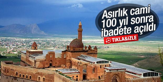 İshak Paşa Camisi 100 yıl sonra ibadete açıldı