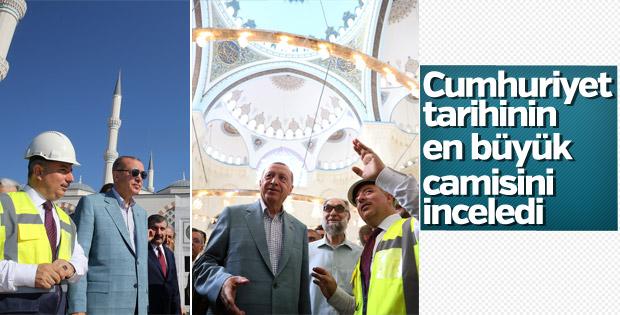 Başkan Erdoğan Çamlıca Camii'nde incelemelerde bulundu