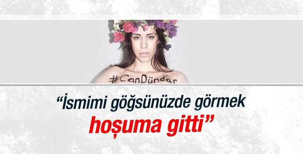 Can Dündar'dan FEMEN'e teşekkür mektubu