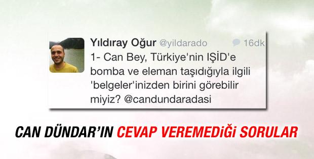 Can Dündar'ın IŞİD tweetine Yıldıray Oğur'dan zor sorular