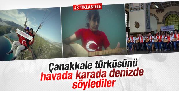 Havada karada ve denizde Çanakkale türküsü klibi - İzle