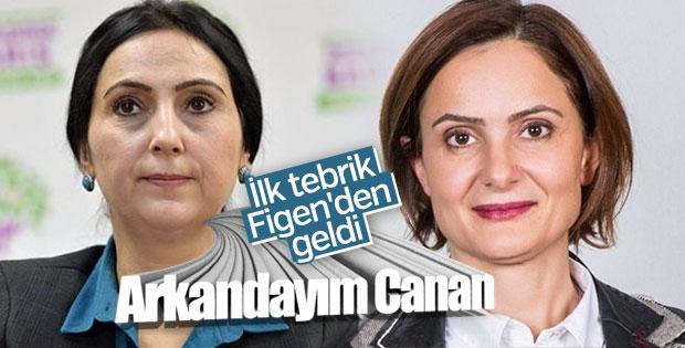 Figen Yüksekdağ'ın Canan Kaftancıoğlu'na dayanışma mesajı