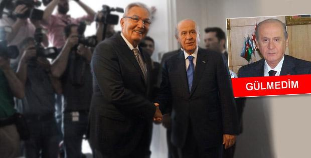 Deniz Baykal MHP Lideri Devlet Bahçeli ile görüştü