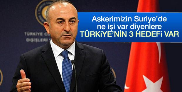 Mevlüt Çavuşoğlu: Türkiye'nin Suriye'de 3 hedefi var