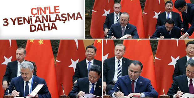 Çin'le karşılıklı anlaşmalar imzalandı