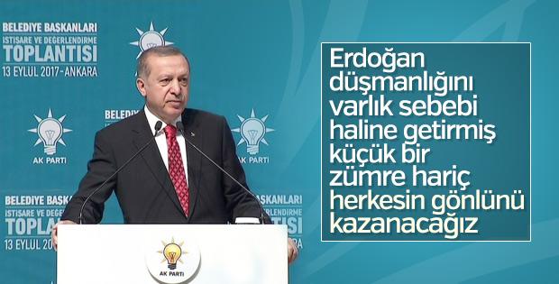 Cumhurbaşkanı belediye başkanlarına hitap etti