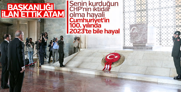 Cumhurbaşkanı Erdoğan Anıtkabir'e gitti