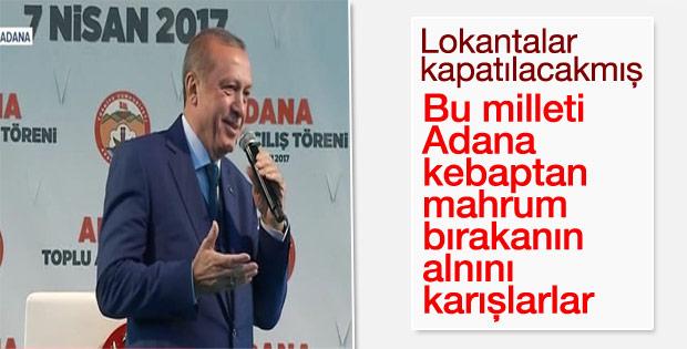 Cumhurbaşkanı'nın Adana konuşması