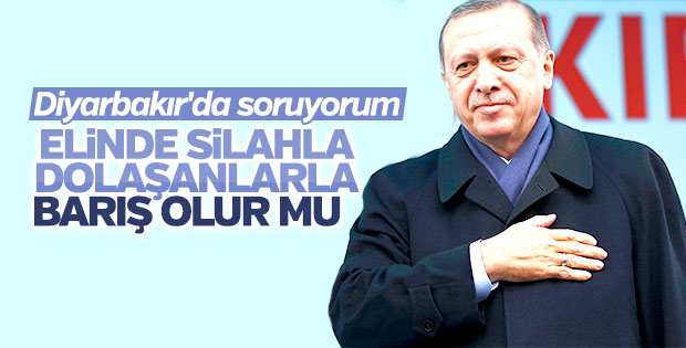 Cumhurbaşkanı'nın Diyarbakır konuşması