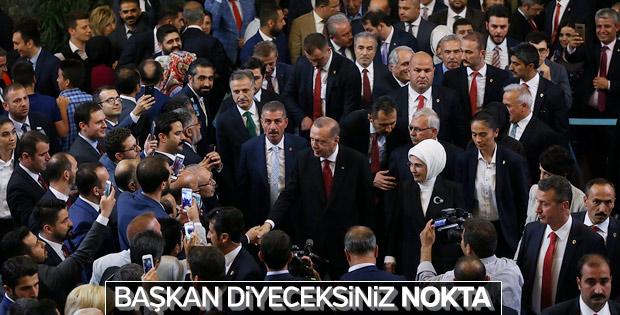 Yemin sonrası Erdoğan'dan ilk açıklama