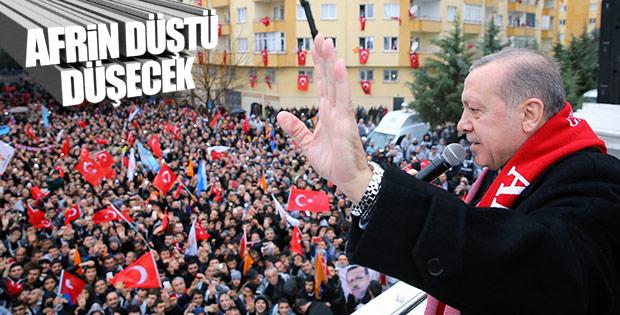 Cumhurbaşkanı: Afrin yavaş yavaş düşüyor
