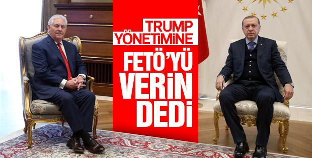 Cumhurbaşkanı Erdoğan-Tillerson görüşmesinin ayrıntıları