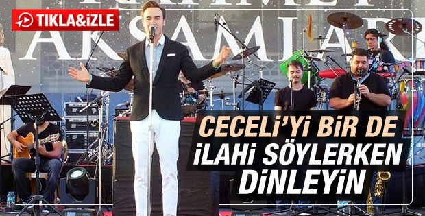 Mustafa Ceceli ilahi konseri verdi
