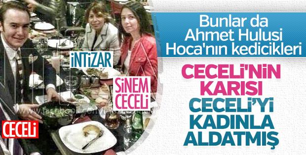 Mustafa Ceceli'nin eski eşi Sinem Gedik İntizar'la birlikte