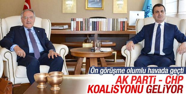 AK Parti ile CHP koalisyon için görüştü