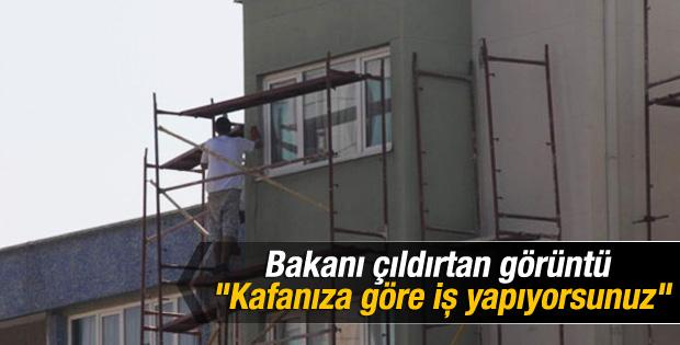 Bakan Çelik'ten güvenlik önlemi almayan inşaata müdahale