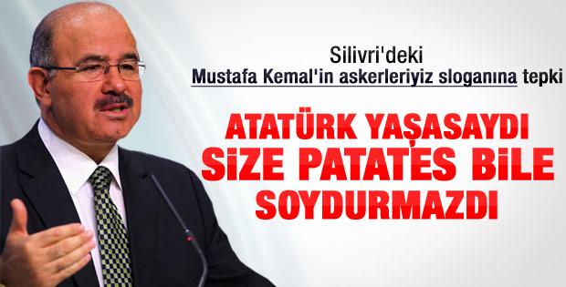 Çelik: Mustafa Kemal olsa size patates soydurtmazdı