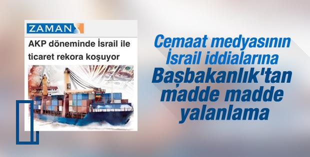 Başbakanlık'tan madde madde İsrail iddialarına yanıt