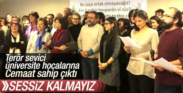 Cemaat'ten PKK sevici akademisyenlere destek geldi