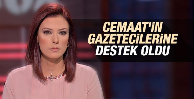 Gülbin Tosun'dan Cemaat'in gazetecilerine destek