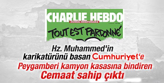 Hz. Muhammed karikatürlerine Zaman'dan destek