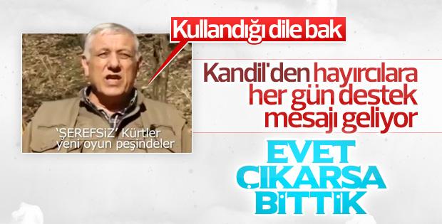 Terör örgütü PKK'dan Kürtlere referandum tehdidi