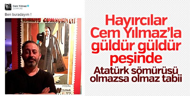 CHP'li vekil Cem Yılmaz'ın Atatürk paylaşımını beğendi