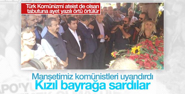 Vedat Türkali'nin tabutu kızıl bayrağa sarıldı