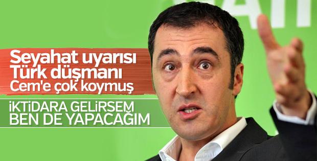 Cem Özdemir'in hayali Türkiye'ya baskı kurmak
