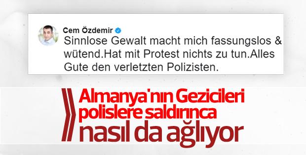 Cem Özdemir Hamburg'daki protestoları gereksiz buldu