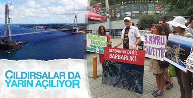 Taksim'de 3. Köprü karşıtı eylem