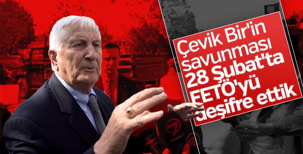 28 Şubat davasında karar öncesi Çevik Bir'den açıklama
