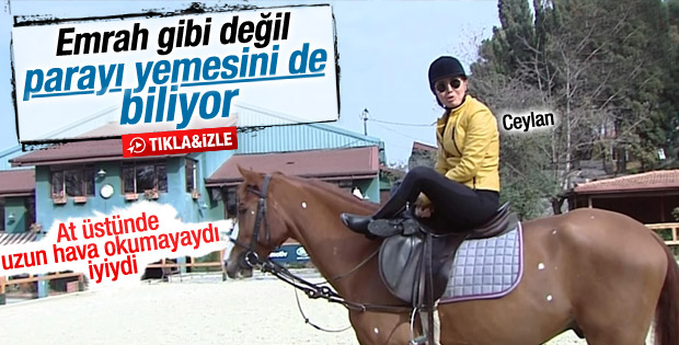 Ceylan'dan at üstünde türkü şov