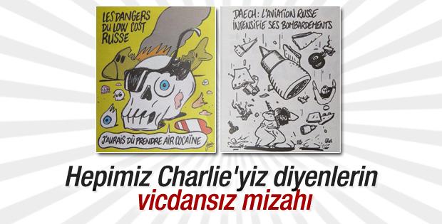 Charlie Hebdo Mısır'da düşen uçakla dalga geçti