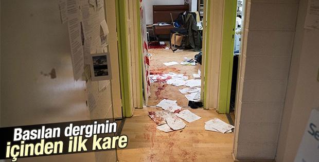 Saldırıdan sonra Charlie Hebdo dergisinden ilk fotoğraf