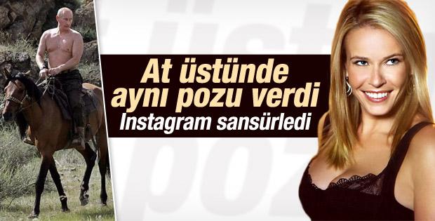 Chelsea Handler'ın üstsüz Putin pozuna Instagram'dan sansür