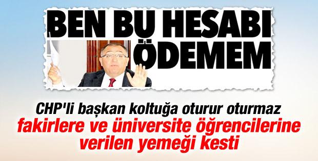 CHP'li başkanın yemek faturası iddiasına cevap geldi