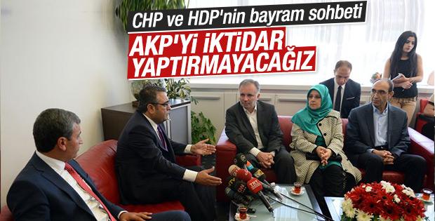 HDP heyetinden CHP'ye bayram ziyareti