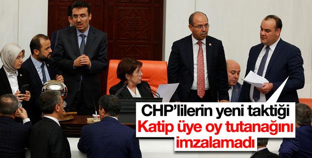 CHP'li katip üye 7. maddenin oy tutanağını imzalamadı