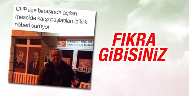 Manisa'da CHP'li eski başkandan mescit protestosu