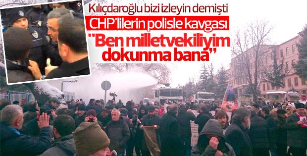 TBMM'ye yürümek isteyen CHP'lilere polis müdahalesi