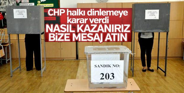 CHP seçim stratejisini vatandaşlara soracak