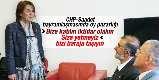CHP - Saadet bayramlaşmasında oy pazarlığı