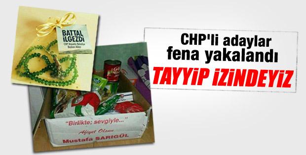 CHP yerel seçimler için yardım dağıtıyor