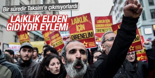 CHP'den Taksim'de laiklik eylemi